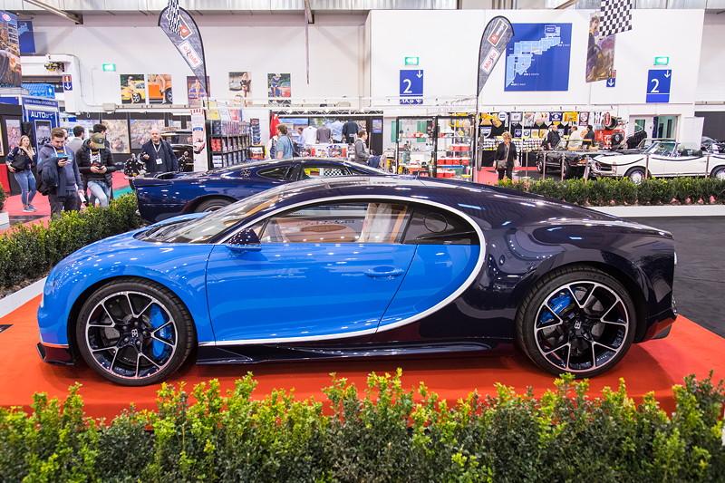 Bugatti Chiron in der Sonderausstellung '50 Jahre Super Sport Cars', Essen Motor Show 2017.