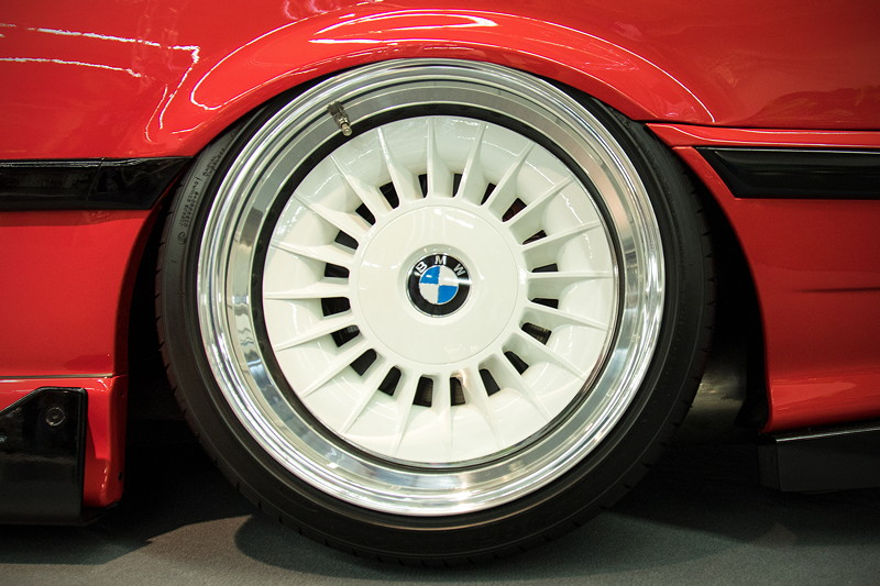 BMW Styling 20 Turbinenrad vom BMW E34 M5, auf 3teilige Optik umgebaut, HA: 11J x 17 Zoll ET 7 mit 245/35 R17 Bereifung.