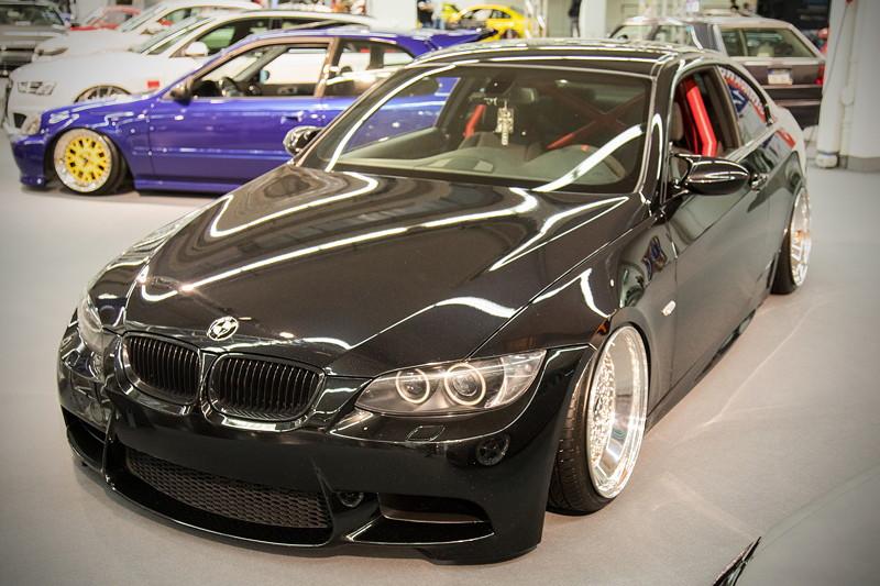BMW 3er (E92), Baujahr 2009, mit selbst gebauter Abgasanlage.