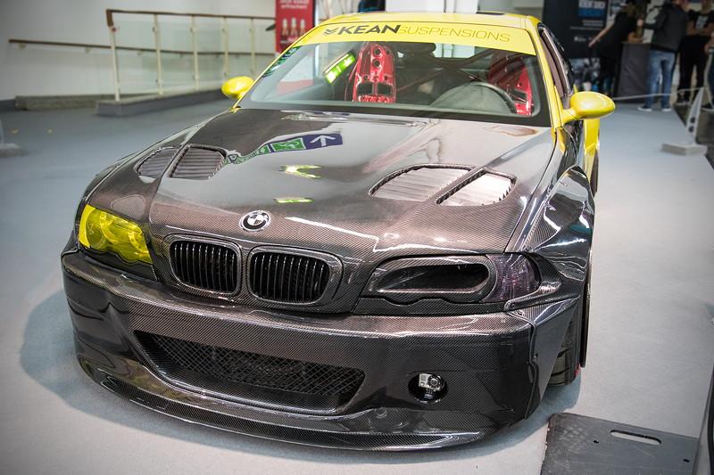BMW M3 (E46), mit speziell angefertigtem Airride Fahrwerk von 'Kean Suspensions'.