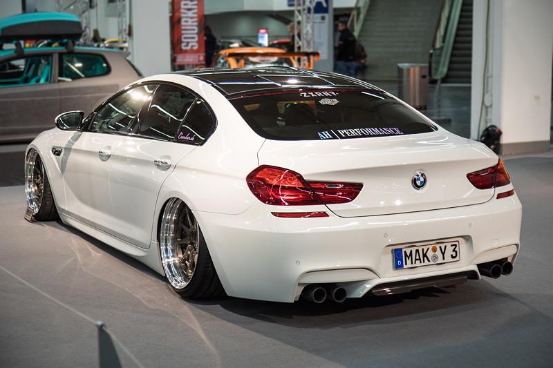 BMW M6 Gran Coupé, der wahrscheinlich erste M6 GC mit Luftfahrwerk.