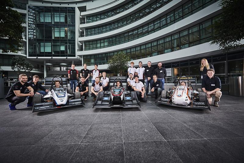 Formula Student Engagement der BMW Group: Vorstellung der Teams im Forschungs- und Innovationszentrum.