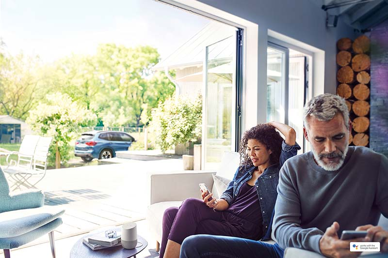 BMW Connected integriert in Google Home. Google und Google Home sind eingetragene Marken von Google LLC.