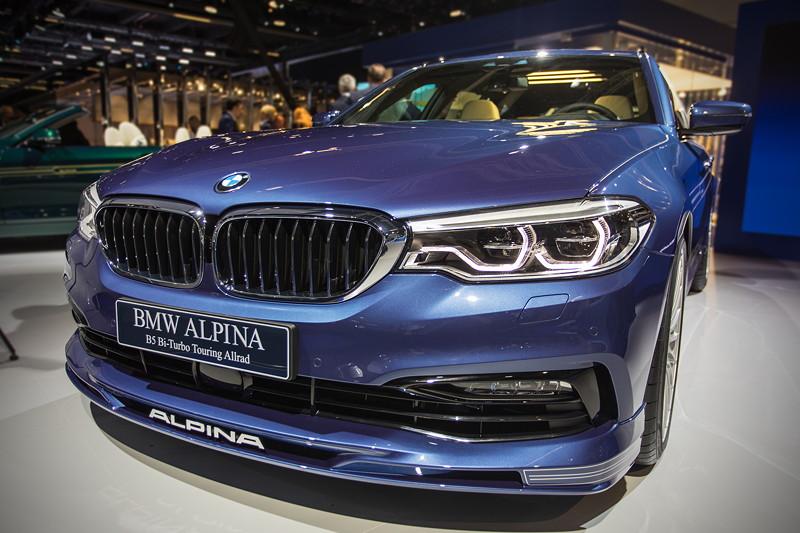 BMW Alpina B5 Bi-Turbo Touring Allrad, ausgstellt auf der IAA 2017