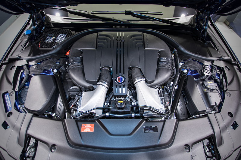 Alpina B7 Bi-Turbo Allrad (G12), V8 Bi-Turbo Motor mit 608 PS, vmax: 310 km/h