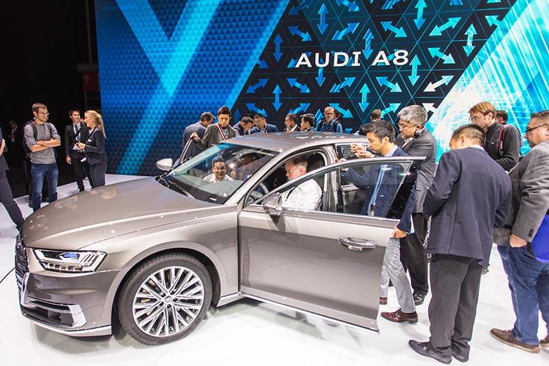 Audi präsentierte den neuen A8 auf der IAA in Frankfurt.