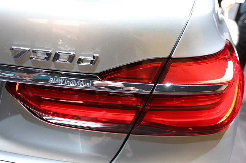 BMW 730d Individual, Typ-Bezeichnung auf der Heckklappe