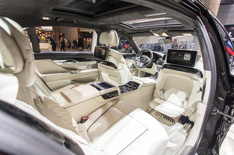 BMW 750Ld Individual mit Executive Lounge inkl. Executive Seating, das das Hochlegen der Füße ermöglicht