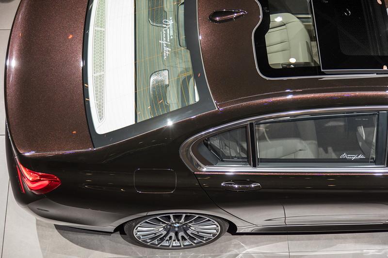 BMW 750Ld Individual, individuell nach Kundenwunsch gestaltete Rollo Schriftzüge (nicht nach Katalog, sondern individuell zu bestellen)
