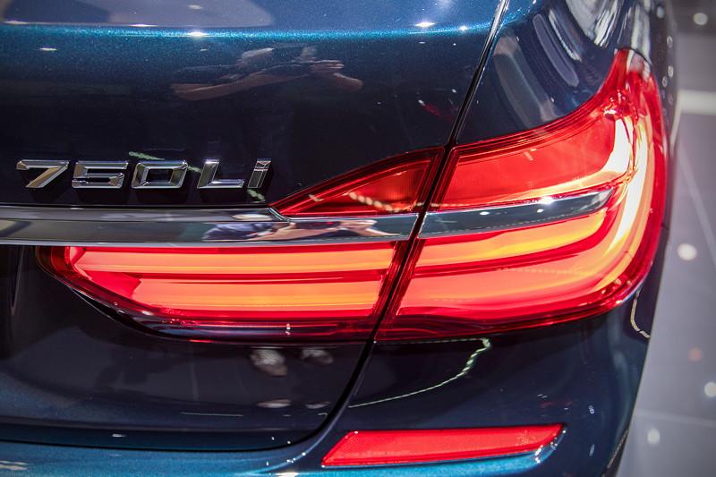 BMW 750 Li Individual '40 years', Typbezeichnung auf der Heckklappe, Rücklicht