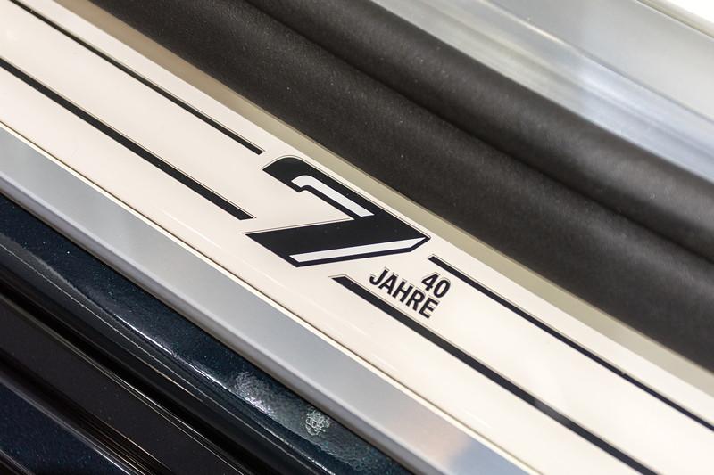 BMW 750 Li Individual '40 years', Einstiegsleiste mit Schriftzug '7er 40 Jahre'