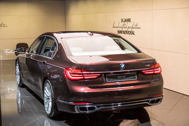 BMW M 760 Li Individual Inspired by Nautor's Swan in BMW Individual Sonderlackierung Damastrot Metallic.