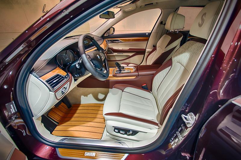 BMW M 760 Li Individual Inspired by Nautor's Swan, Interieur vorne