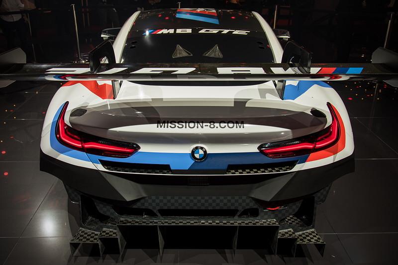 BMW M8 GTE, Heckansicht mit grossem Spoiler
