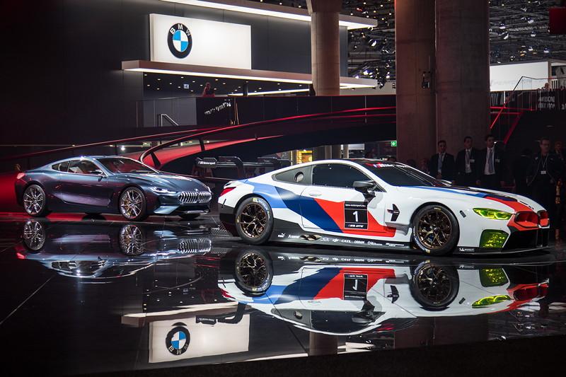 BMW Concept 8series und BMW M8 GTE auf der grossen BMW-Bühne, IAA 2017
