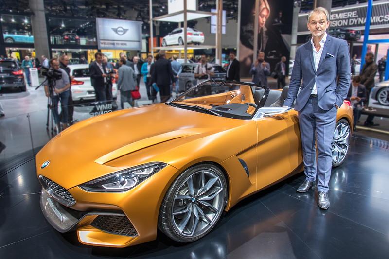 BMW Concept Z4 mit Adrian van Hooydonk, Leiter BMW Group Design.