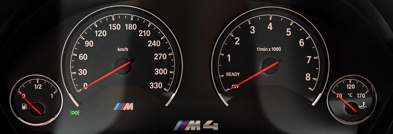 BMW M4 CS, Tacho-Instrumente