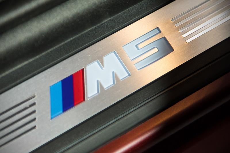 BMW M5 First Edition, Einstiegsleiste mit M5 Schriftzug