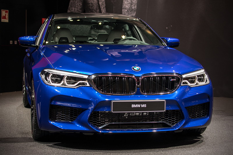 BMW M5 in Marina Bay Blue Metallic