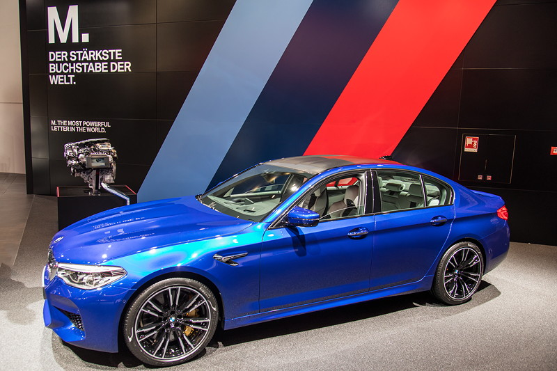 BMW M5 in Marina Bay Blue Metallic