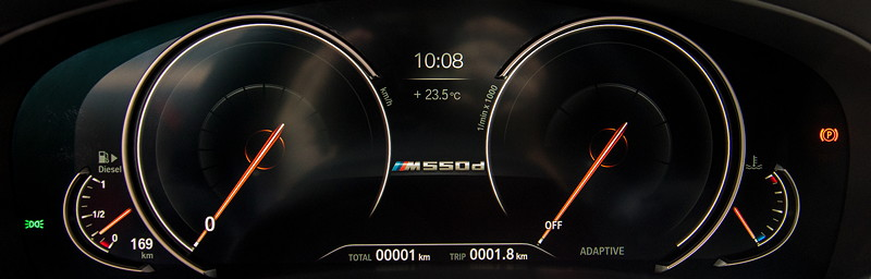 BMW M550d Touring, multifunktionales Instrumentendisplay
