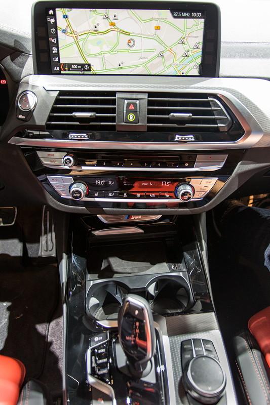 BMW X3 xDrive M40i, Mittelkonsole mit frei stehendem Bordbildschirm