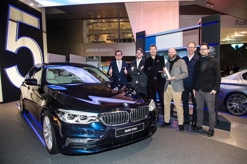 BMW 5er Limousine erhält die höchste Ehrung mit dem 'iF Gold Award 2017'.
