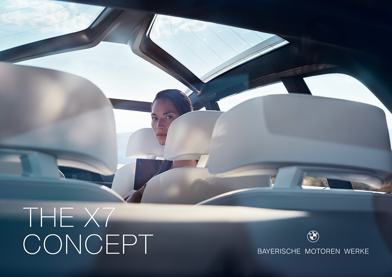 Neuer Markenauftritt fuer die Modelloffensive im BMW Luxussegment. BMW X7.