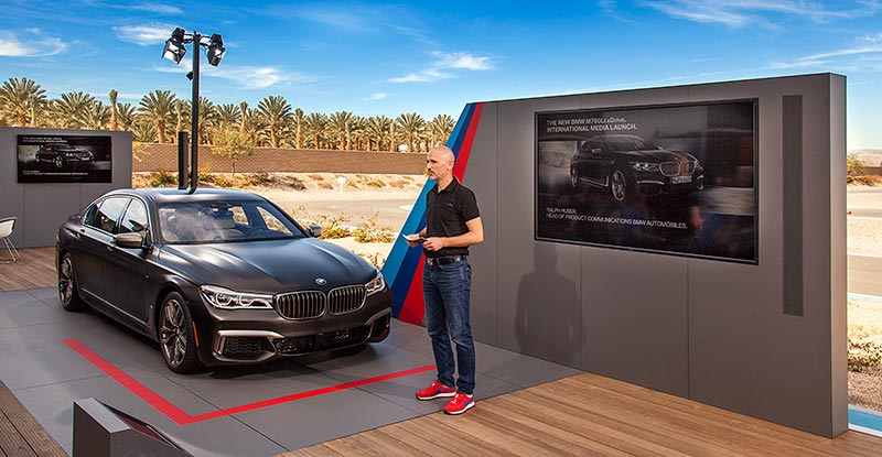 Int. Presse-Präsentation des neuen BMW M760Li xDrive im BMW Performance Center West in Thermal bei Palm Springs