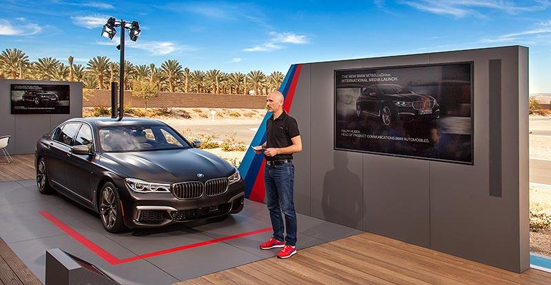 Int. Presse-Präsentation des neuen BMW M760Li xDrive im BMW Performance Center West in Thermal bei Palm Springs