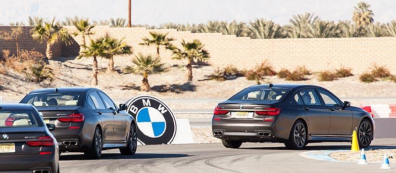 BMW M760Li xDrive, Fahren auf einem abgesteckten Parcours, BMW Driving Center West