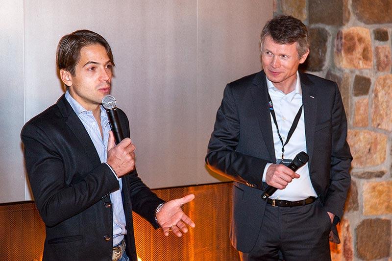 BMW Werksfahrer Augusto Farfus und Carsten Pries, Leiter Produktmanagement BMW M GmbH