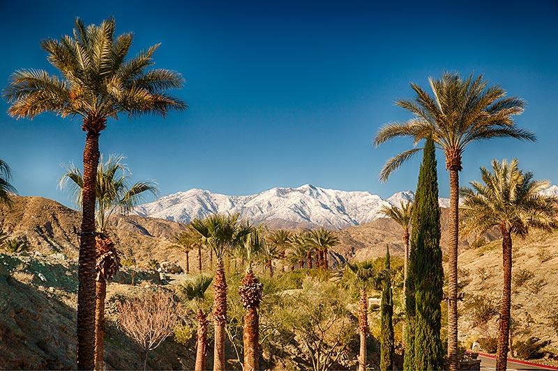 Aussicht vom Ritz Carlton Hotel in Rancho Mirage bei Palm Springs
