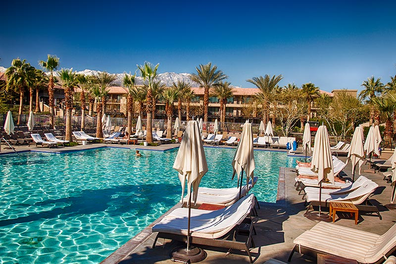 Ritz Carlton Hotel in Rancho Mirage bei Palm Springs, Pool