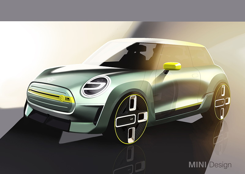 MINI Electric Concept, Designskizze
