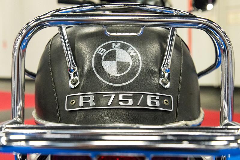 Retro Classics Cologne 2017: BMW Motorrad R75/6, auf dem Stand vom BMW Club Mobile Classic e.V.