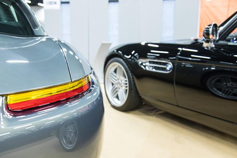 Gleich zwei Z8 Fahrzeuge präsentierte die Ausstellung 'Neo Classics' auf der Retro Classics 2017 in Köln.