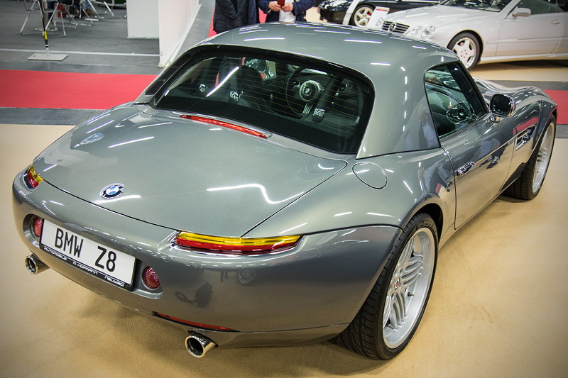 Retro Classics Cologne 2017: BMW Z8 mit Hardtop, stratusgrau metallic, Baujahr 02.2002, 50.250 km gelaufen, Preis: 285.000 Euro.