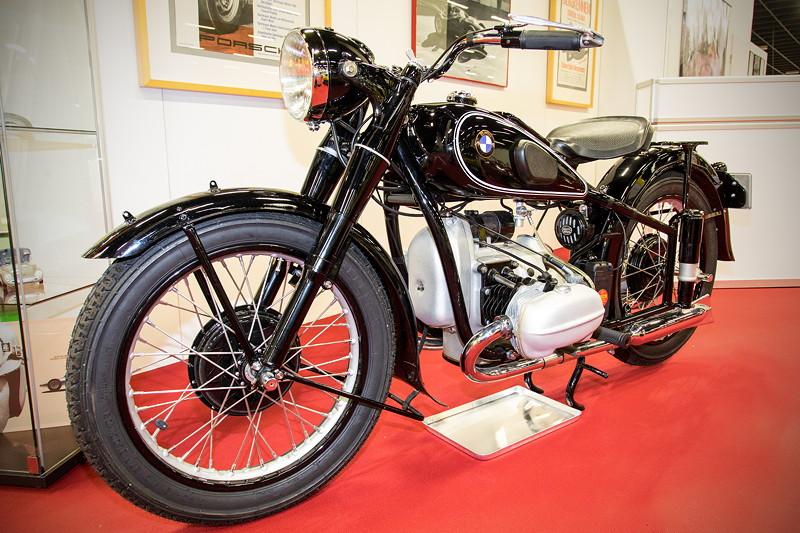 Retro Classics Cologne 2017: BMW Motorrad R66, Baujahr 1939, 2-Zyl.-Motor, 30 PS, vmax: 150 km/h, Besitzer: Hans Thelen.