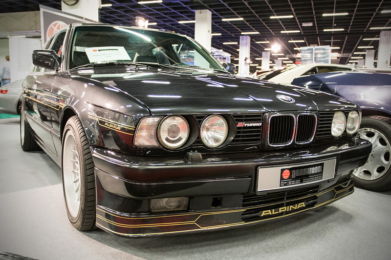 Retro Classics Cologne 2017: BMW Alpina B10 Bi-Turbo (E34), EZ 10.1991, 206.000 km gelaufen, Preis: 57.000 Euro.