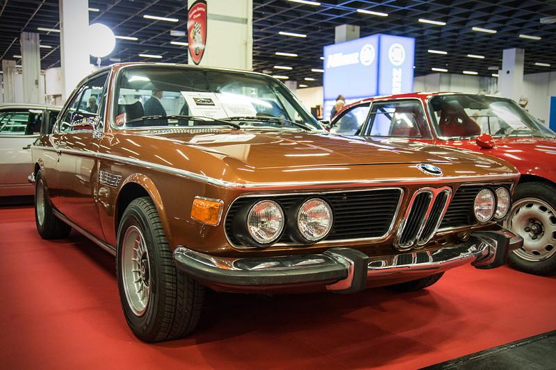 Retro Classics Cologne 2017: BMW 3.0 CSi, Farbe: original 'siena', Baujahr 1974, Preis: 75.000 Euro.