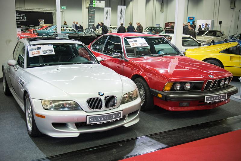 BMW Z3 M Coupé (E36/7), Baujahr 2000, Starpreis: 24.500 Euro und BMW 635 CSi (E24), Baujahr 1985, Startpreis: 10.500 Euro.
