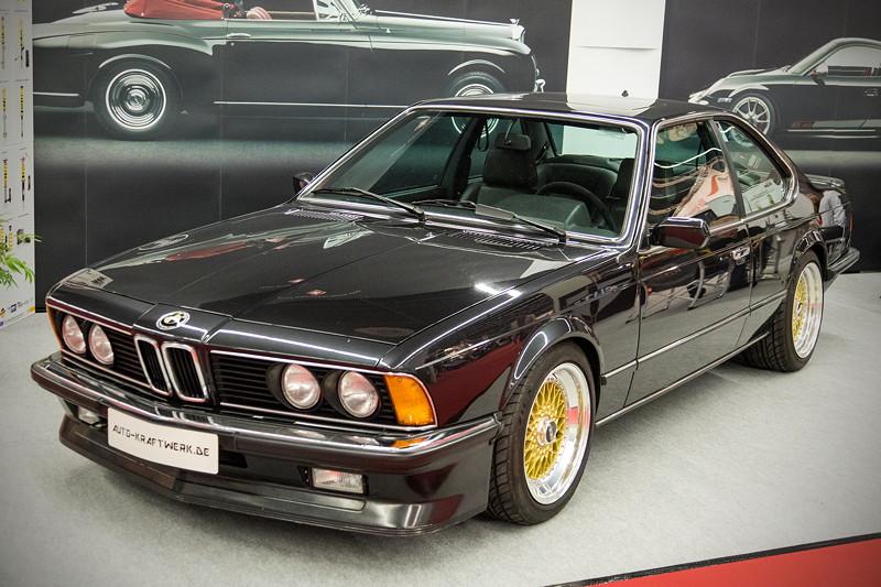 Retro Classics Cologne 2017: BMW 6er Coupé (E24) auf golenden BBS Felgen.