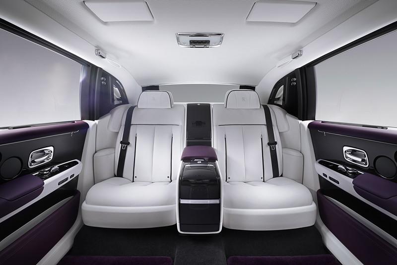 Rolls-Royce Phantom EWB, Blick in den Fond