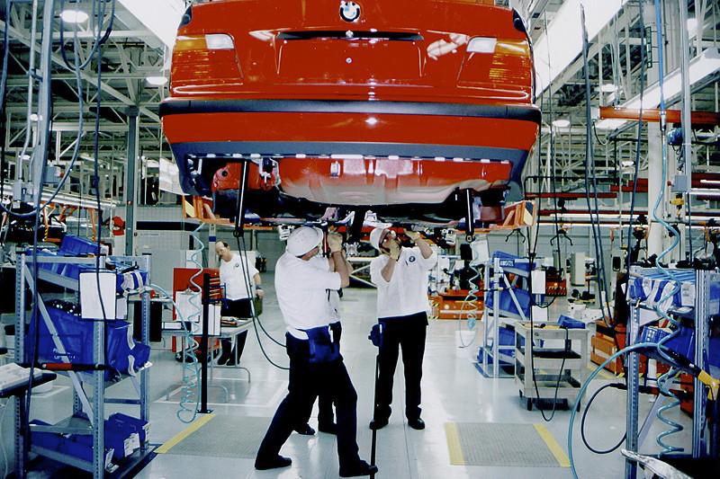 BMW Group Werk Spartanburg: BMW 3er Produktion im Jahr 1995 (historische Aufnahme)