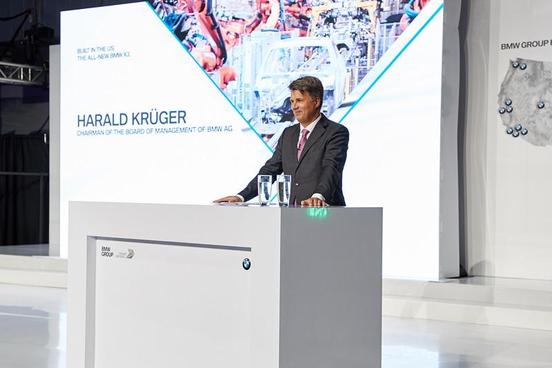 Veranstaltung 25 Jahre BMW Group Werk Spartanburg am 26. Juni 2017: Harald Krüger, Vorsitzender des Vorstands der BMW AG