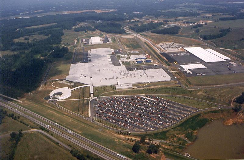 BMW Group Werk Spartanburg: historische Luftaufnahme aus dem Jahr 1995