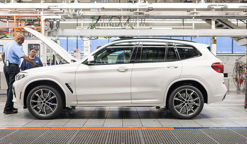 BMW Group Werk Spartanburg: Montage des neuen BMW X3