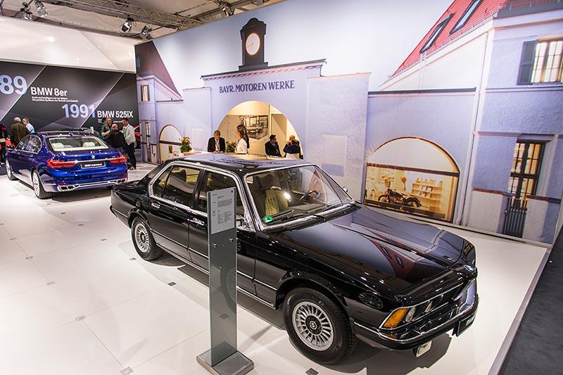 BMW 733i (E23), mit 4,86 m Länge der kürzeste 7er in der 40jährigen 7er-Geschichte