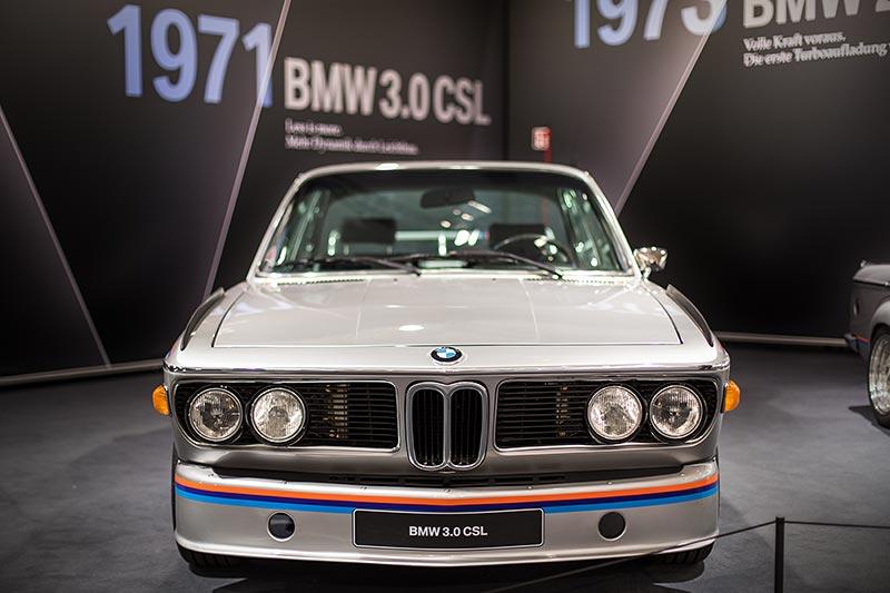 BMW 3,0 CSL (E9), ausgestellt von der BMW Group Classic auf der Techno Classica 2017